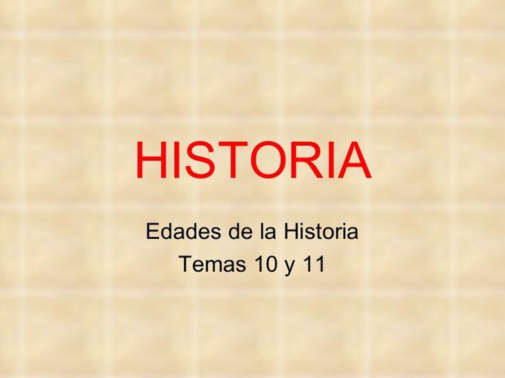 Presentación para 4º de Primaria sobre las edades de la Historia en dos presentaciones, primero Prehistoria y Edad Antigua.