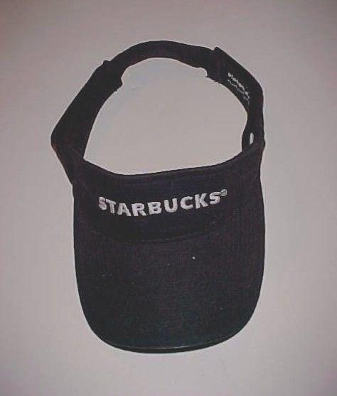Starbucks Coffee Gears Adult Employee Worker Scripted Black Visor One Size #Starbucks #Visor