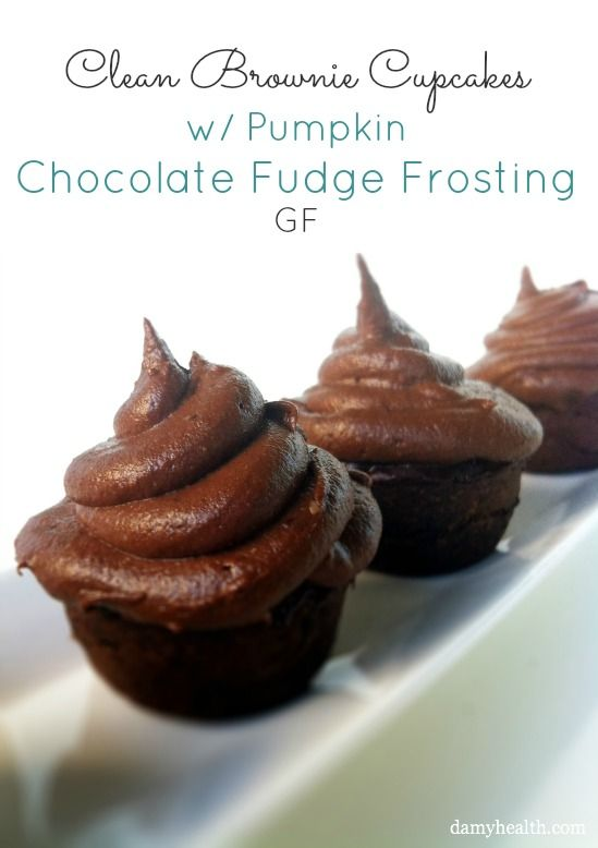 Look too good to be true! Can these really be clean? Clean Brownie Cupcakes w/ Chocolate Fudge Frosting #glutenfree #grainfree #cleaneating via Damy Health