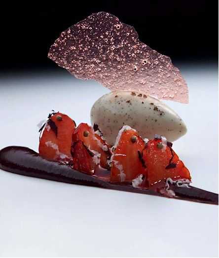 A dessert made by Heston Blumenthal at the Fat Duck