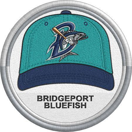 Bridgeport Bluefish baseball cap logo. Atlantic League of Professional Baseball (MiLB)