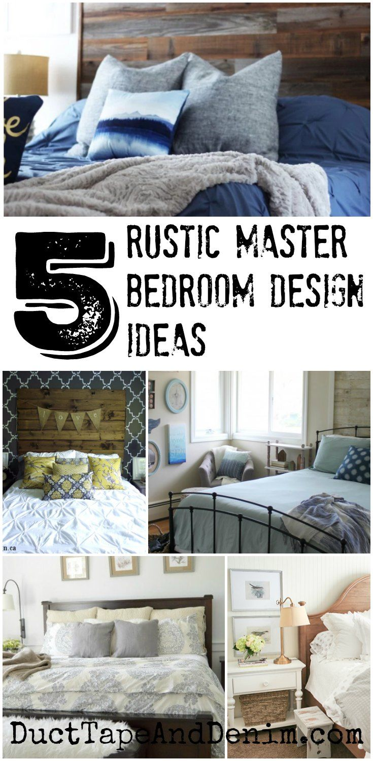 5 Rustic Master Bedroom Design Ideas and
