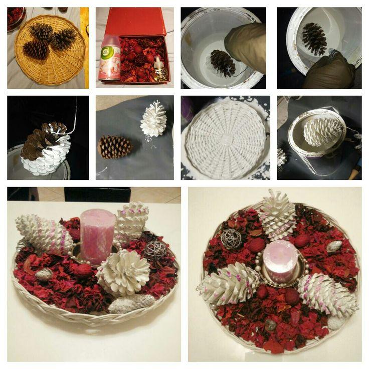 Création dun pot pourri senteur orchidées,  A base de pommes de pins, fleurs séchées et bougies parfumés, Automne et fleuri en même temps, ça résume bien ce beau début d'Automne !