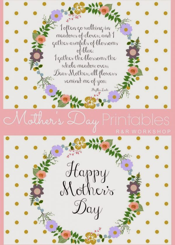 20 marvellous mother s day printables templates and printables rh pinterest com