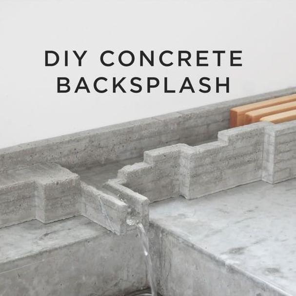 Lego Kitchen Backsplash: I Made A Concrete Backsplash And Dish Rack By Pouring