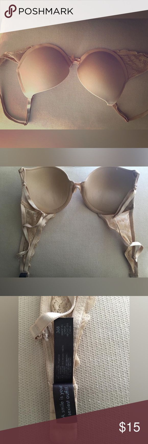 Champagne colored bra Purchased for EDC. unfortunately had to sell my tickets. Was for a mermaid costume, sequins, shells, dangling charms. The whole works. ☹️ smoke and pet free home. Intimates & Sleepwear Bras