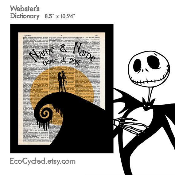 Nightmare Before Christmas 2 with Names & Date on by EcoCycled