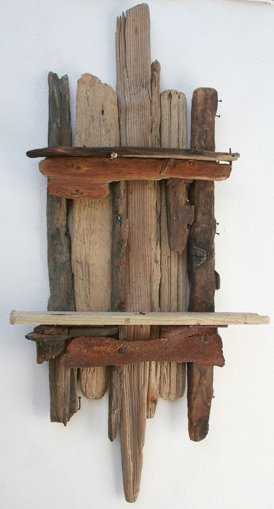 Driftwood shelf drift wood shelves driftwood wall art for Driftwood wall shelves