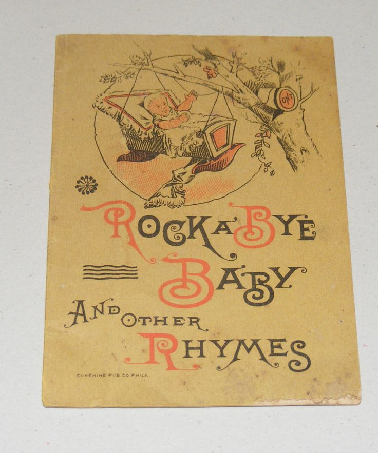 Antique Clark's O N T Spool Cotton Rock a Bye Baby and other Nursery Rhymes Children Advertising Book  Illustrated by cottageprims on Etsy https://www.etsy.com/listing/252920775/antique-clarks-o-n-t-spool-cotton-rock-a
