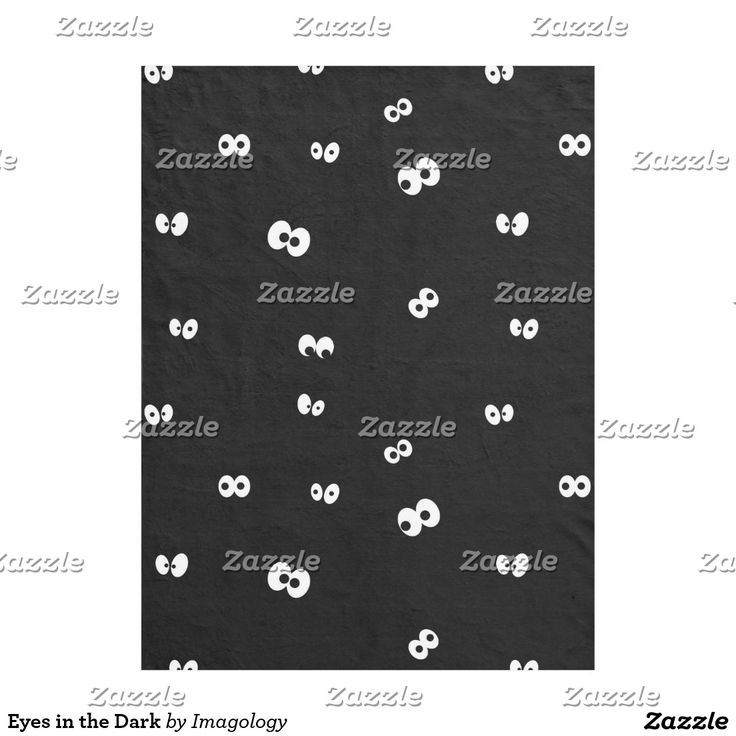Eyes in the Dark Fleece Blanket