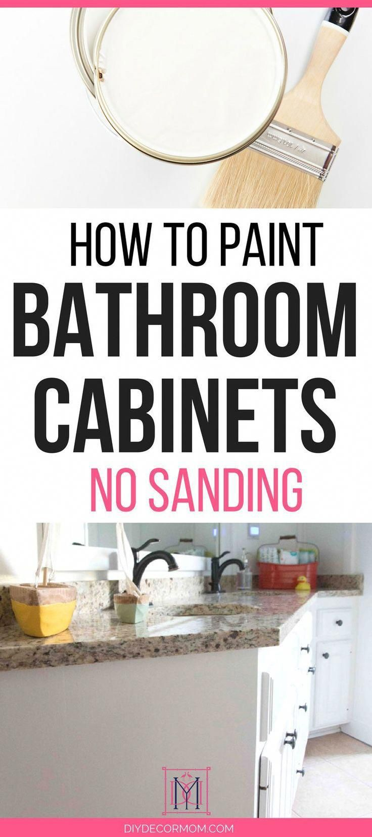 learn how to paint bathroom cabinets with this step by step tutorial rh pinterest com