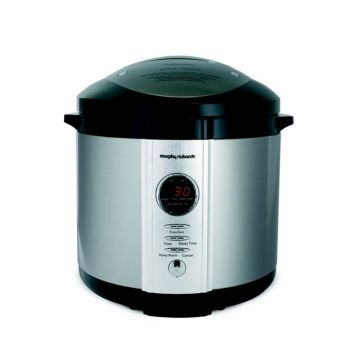 The Digital Electric Pressure Cooker from Morphy Richards can cook fish, chicken, fresh vegetables, rice, and even desserts in just minutes. It will save you time and energy while preserving valuable nutrients, especially if you brown and seal the meat in the pot before the main cooking begins. The Digital Electric Pressure Cooker features a browning function, twist and lock lid and a failsafe pressure release valve. When cooking has finished, the Digital Electric Pressure Cooker can keep…