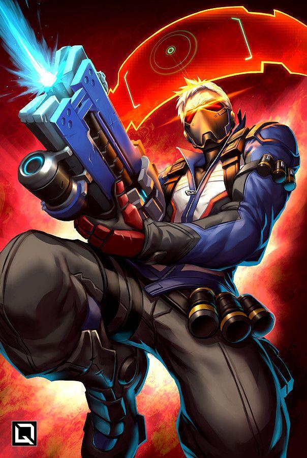 Illustration de Drake Tsui Soldier 76 Overwatch