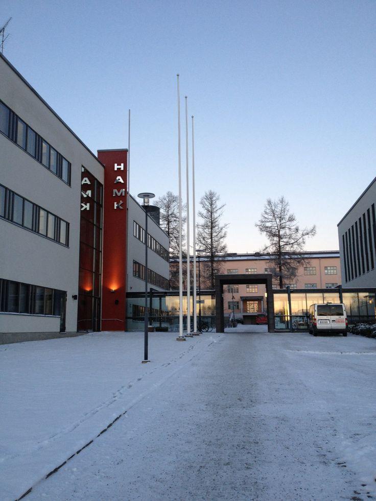 Morning in Visamäki Campus in January 2014