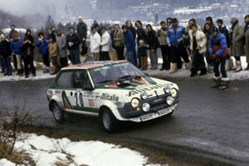 Fiat Abarth 124 in Rallye Automobile de Monte-Carlo, 23rd January 1975.**