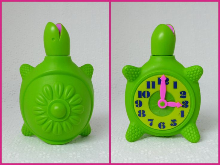 Tic Toc Turtle / Vintage 1960s / Rare Collectible Avon Bottle / Turtle Clock Rare collectible Avon bottle, in great condition. •Tic Toc Turtle •Bubble Bath decanter •Avon, 1968-1969 •Bright green plastic bottle •with neon pink accents •yellow and navy blue clock on its belly •the clock has moveable pink hands •5.75 L x 3.75 W  Condition: This adorable Avon bottle is in great vintage condition. Very clean, no stains or odors. It has minor surface wear. It is partially full of ol...