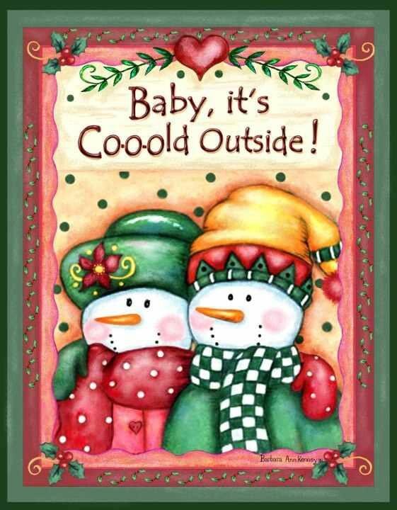Barbara Ann Kenney's snowman design