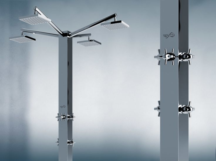 A powerful visual impact for a shower that is composed of structural elements capable of expressing, at the same time, cherished aesthetic lines and a form of extreme material connection. | inoxstyle.com