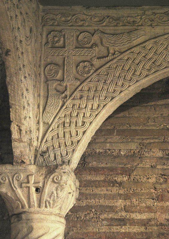 ВИЗАНТИЯ В КАРТИНКАХ - Киворий и фрагменты колонн из церкви Сант Аполлинаре ин Классе в Равенне