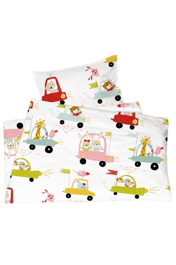 Kinderbettwasche Bio Baumwolle Jersey Autos Von Hans Natur