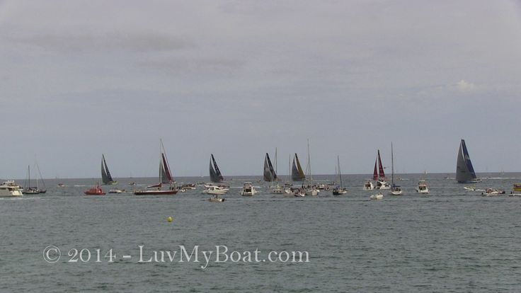 Boats at the start of the Volvo Ocean Race 2014/15