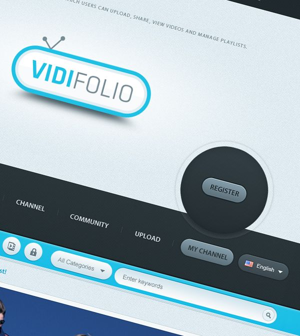 Vidifolio - Video Sharing Website by Waseem Arshad, via Behance