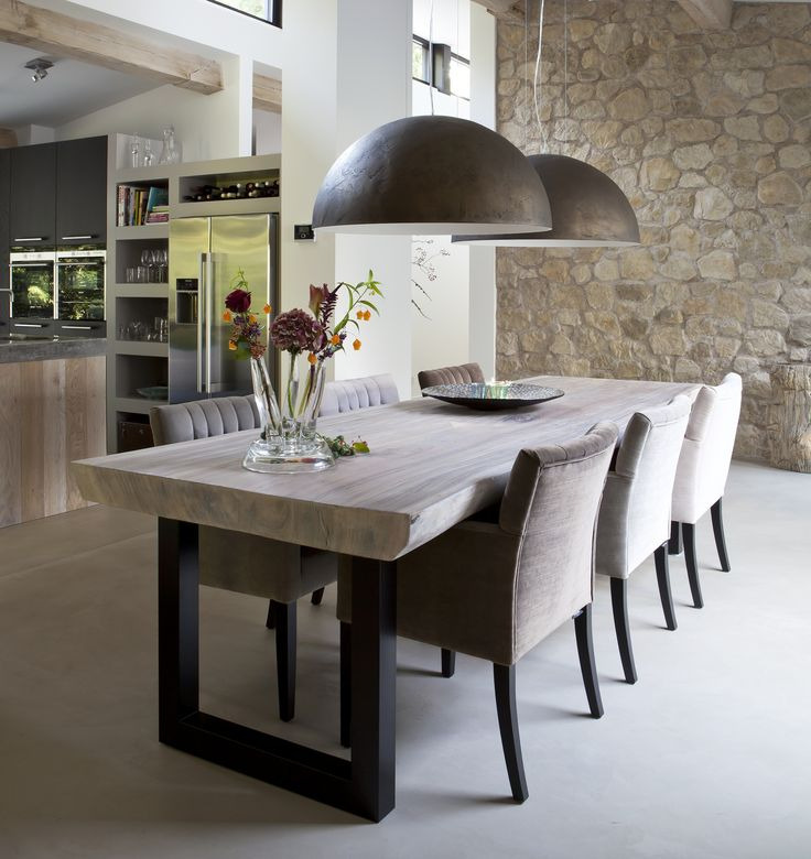 Contemporary kitchen & dining with rustic flair