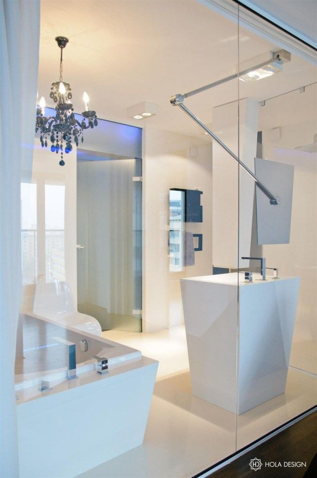 modern bathroom designs%0A A City Center Apartment by HOLA Design  A city center apartment by HOLA  Design is located near the city center of Warsaw  Poland