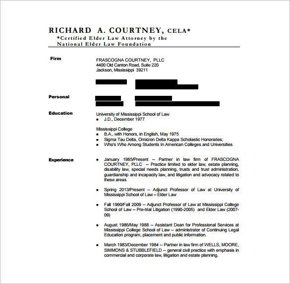 sample general counsel resume pdf
