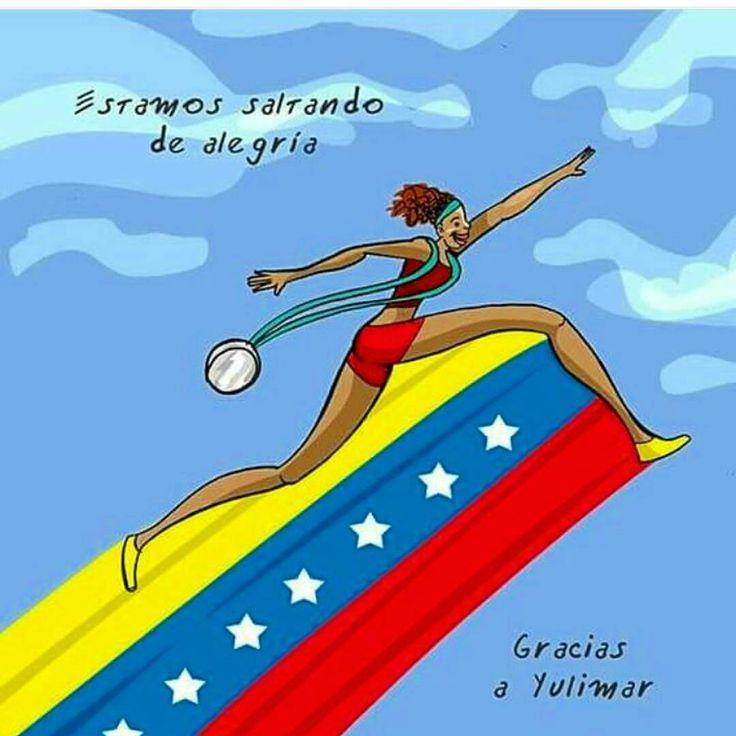 #OrgulloVenezolano La atleta caraqueña de 20 años de edad #YulimarRojas este domingo se colgó en su cuello su primera medalla olímpica y la primera para #Venezuela en estos #JuegosOlimpicos en #Rio2016 La #Venezolana ganó #MedalladePlata en la disciplina de salto triple femenino logrando 1498 m. Con esta hazaña se convierte en la segunda venezolana en lograr medalla en #Atletismo para Venezuela pues en el año 1952 el también atleta #ArnoldoDevonish logró un salto de 1552 m. En la disciplina…