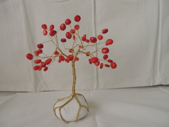 Check out this item in my Etsy shop https://www.etsy.com/listing/244784303/red-coral-wire-tree