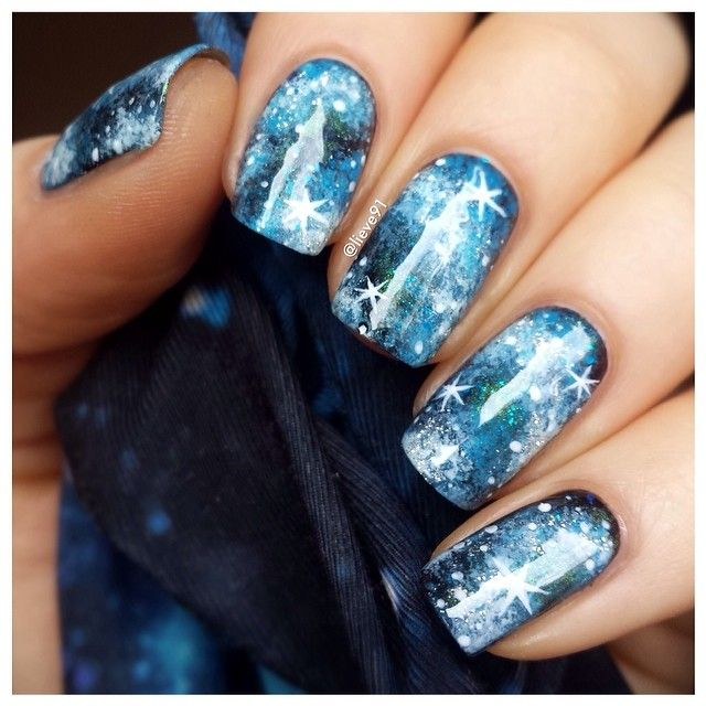 581 best awesome nails images on pinterest nail decals for Outer space nail design