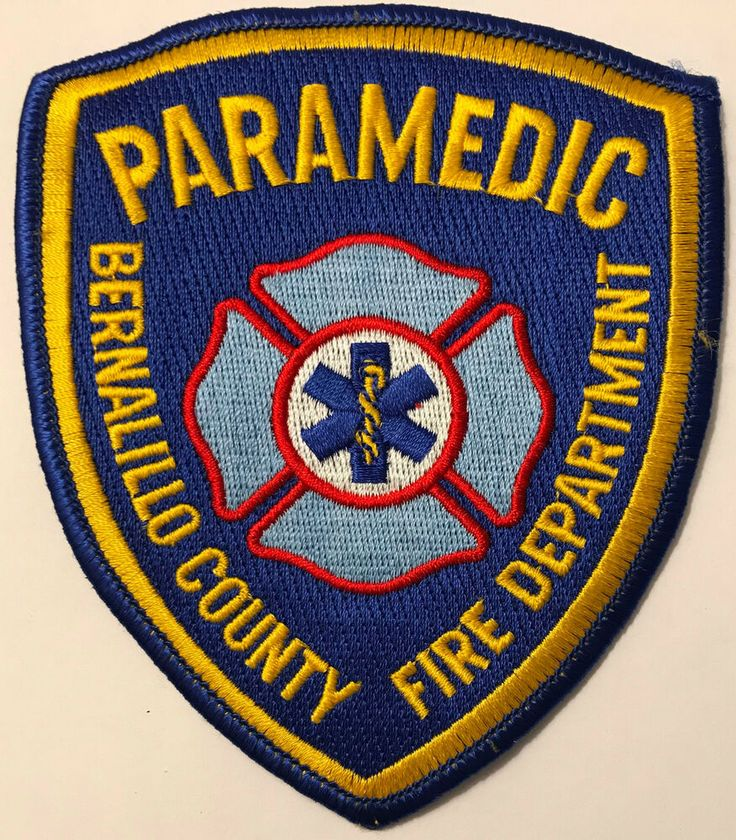 Bernalillo county new mexico fire paramedic patch