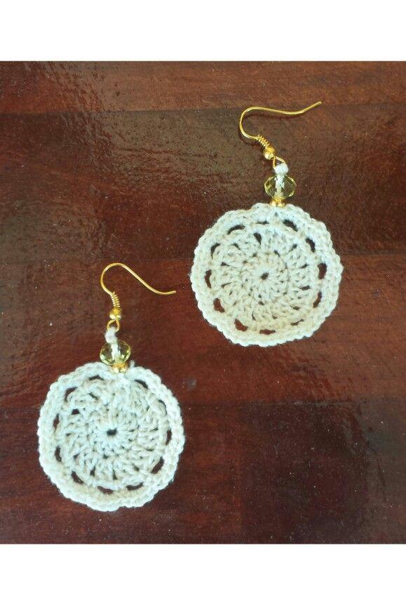#pure white # crochet earrings