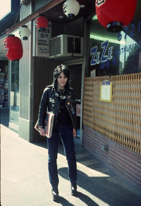 Joan Jett on Hollywood Blvd in 1977. Photo by Brad Elterman