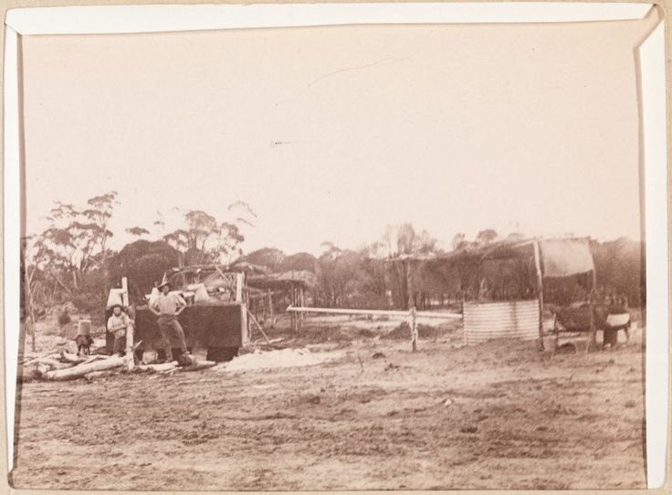 400B/17: Water storage and what appears to be a small water condenser on the pipeline track to Coolgardie, 1895-1896. http://encore.slwa.wa.gov.au/iii/encore/record/C__Rb2115643__SWater%20storage%20__P0%2C10__Orightresult__U__X6?lang=eng&suite=def
