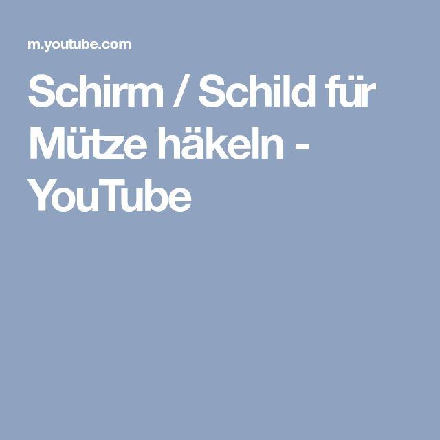 Schirm / Schild für Mütze häkeln - YouTube