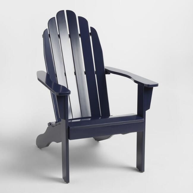 peacoat blue wood adirondack outdoor chair v1 outdoors outdoor rh pinterest com