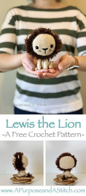 Lewis The Lion Yarn Pinterest Free Crochet Amigurumi And Lions