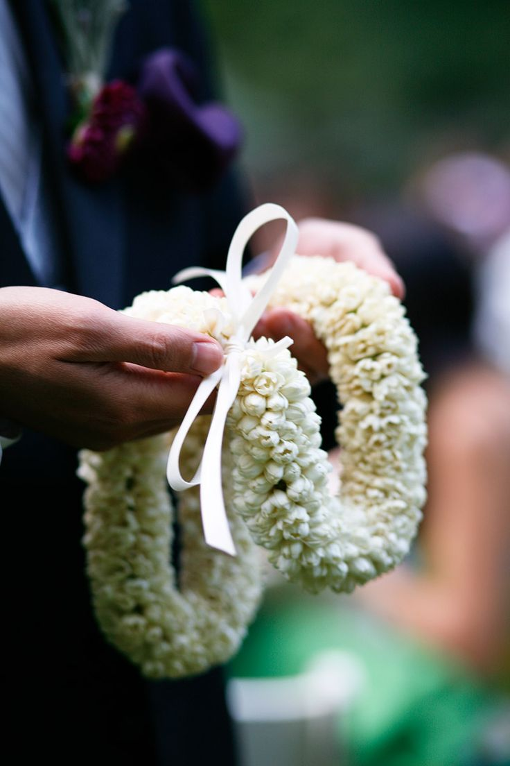 Pikake rope lei for mother of the bride