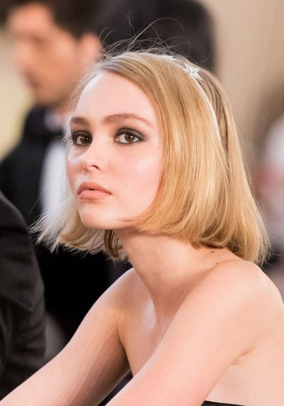 Model and heir to acting royalty Lily Rose Depp. Definitely looks like her daddy Johnny! (Acting families: Depp, Paradis)