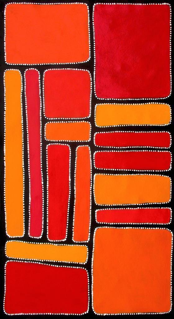 Aboriginal Art by Sally Clark 62cm x 113cm | eBay