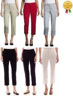 d9047bb424b15 Liz Claiborne Womens Straight Twill Cuffed Pants size 4 6 8 10 12 14 16 18  NEW #LizClaiborne #Cropped #everyday