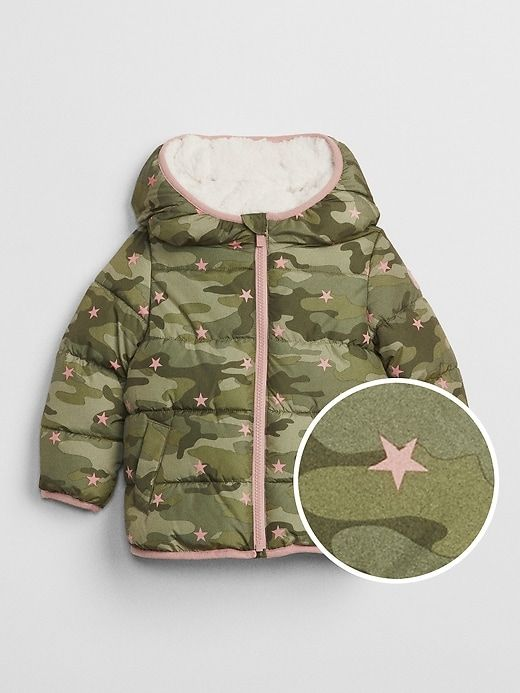 653f38f7b1b6 Gap Babies  Coldcontrol Max Sherpa Puffer Jacket Camo Print ...