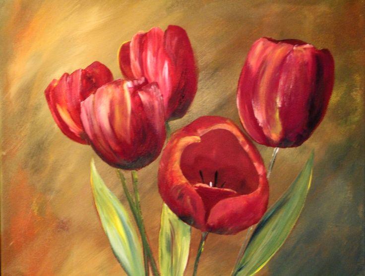 Tulpen, Acryl