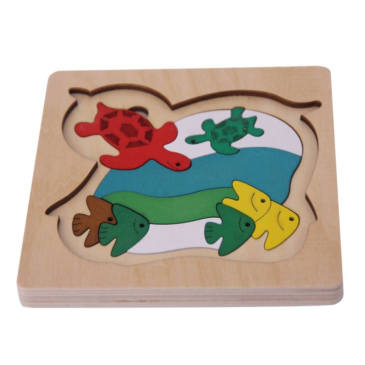 Enjoy Learning Us Map Puzzle%0A Wooden  D Puzzle Game For Children Early Educational Toys Multilayer Animal  Chicken Fish Cartoon Pattern Girls