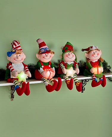 The delightful elves in this collection are ready to spread holiday cheer throughout your home.