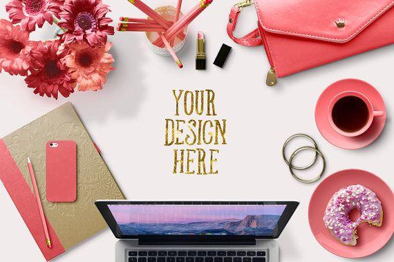 Styled Desk/ White Desktop/ Mock Up/ Product by KLStyledPhotos