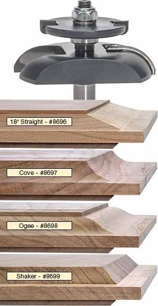 Mlcs raised panel router bits with undercutter #woodworkingideas.