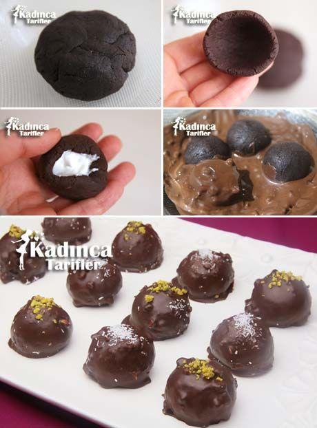 Çikolata Kaplı Sürpriz Truff Tarifi